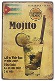 VinMea La Habana Kuba Mojito Drink Blechschild Wand Retro