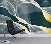 PVCAdhesive壁紙モダン抽象インクラインアートゴールド壁画壁紙リビングルーム研究クリエイティブ家の装飾3Dステッカー-200cmx140cm