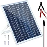 SOLPERK 20W/24V Solar Panel, Solar trickle Charger, Solar Battery Charger and Maintainer, Suitable for Automotive, Motorcycle, Boat, ATV,Marine, RV, etc. (20W Solar Panels) (20W/24V Solar Panel)