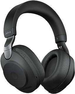 Jabra Evolve2 85 trådlöst PC-headset med laddningsstativ – brusreducerande UC-certifierade stereohörlurar med långvarigt b...