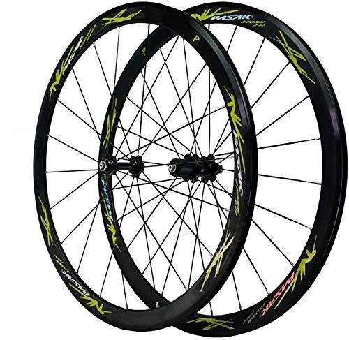 Ruedas De Bicicleta,llantas bicicleta Camino de la bici de la rueda 700C, camino de la bicicleta de ruedas V freno de doble pared llantas de aluminio de 40 mm de BMX llanta de bicicleta rápida de estr
