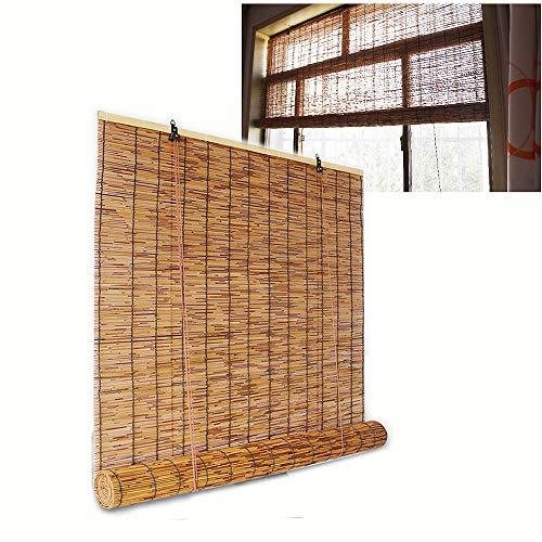 XYNH Persiana Estor De Bambú-Rollo Bambú Ventanas,Sombreando para Mantener La Habitación Fresca,Cortina De Bambú,Persianas para Terrazas, Patios.