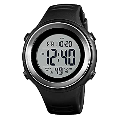 SKMEI Men Sports Watches, Military Outdoor Waterproof Digital Sport Watch Fashion Mens Wristwatches with LED Stopwatch Countdown