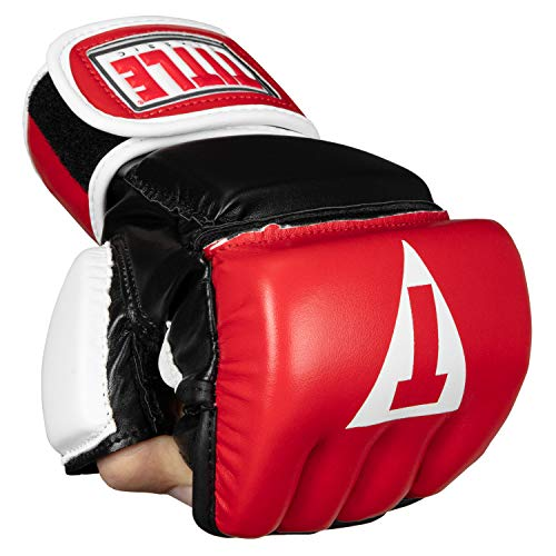 Title Classic Wristwrap Heavy Bag Gloves, Red/Black, Regular