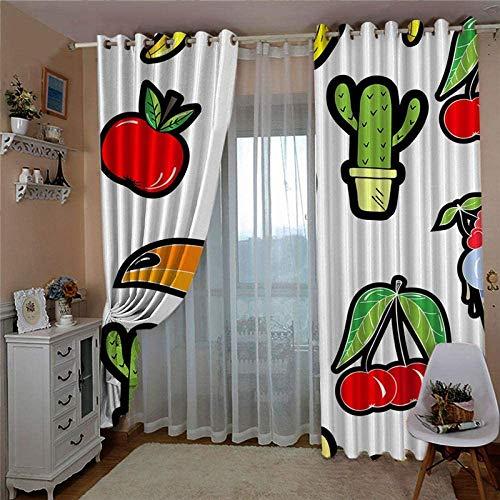 HHJJ Cortina supersuave de color y patrón para dormitorio, cortinas opacas con ojales para sala de estar, 2 paneles (tamaño: 234 x 138 cm)
