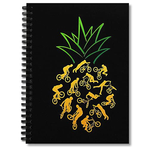 Blank Spiral Notebook Bmx Notepad Pineapple Notebooks Composition Journal Planner Journaling Blank Hand Writing Paper Graph Paper 5x5
