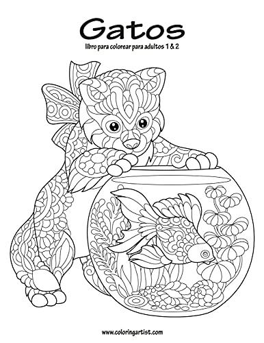 Gatos libro para colorear para adultos 1 & 2