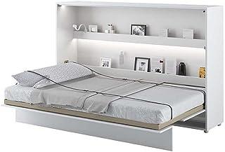 Lit escamotable Bed Concept Horizontal 120 x 200 Blanc Laqué