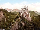 1art1 Schloß Neuschwanstein - Das Märchenschloss Um 1900,
