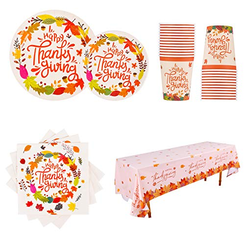 Paper Plates, Cups, Napkins And Tablecloth