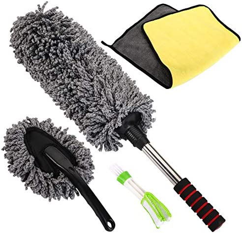 Yarlung 4 Pack Car Detailing Duster Kit Extendable Lint Free Microfiber Duster Cleaning Brush product image