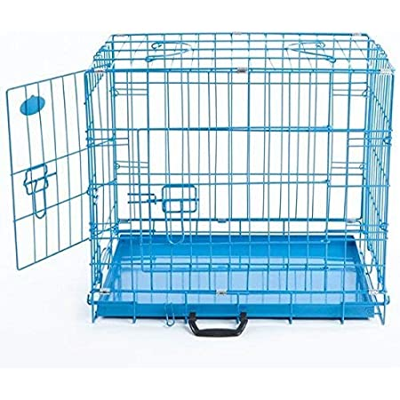 Pet Guard Removable Tray Cage for Dog & Rabbit 30 Inch Blue
