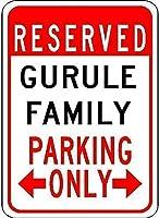 個人的な場所の標識、Gurule家族駐車場の駐車場の装飾の装飾キッチン通りの装飾装飾ビール看板クラブのポスター屋外と屋内の看板