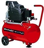 Einhell Compresseur TC-AC 190/24/8 (1500 W, Puissance d'aspiration 165 l/mn, Pression maximale 8 bar, Débit d'air 0, 4, 7 bar : 110 l/m, 75 l/m, 55 l/m, Capacité de la cuve: 24 L)