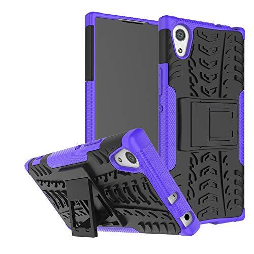 LFDZ Sony Xperia XA1 Tasche, Hülle Abdeckung Cover schutzhülle Tough Strong Rugged Shock Proof Heavy Duty Hülle Für Sony Xperia XA1 Smartphone (mit 4in1 Geschenk verpackt),Violett