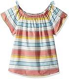 Lucky Brand Girls' Big Short Sleeve Fashion Top, Ilyssa Marshmallow, Medium (8/10)