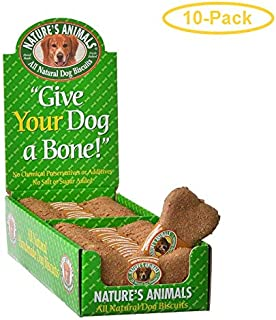 Nature's Animals All Natural Dog Bone - Peanut Butter Flavor 24 Pack - Pack of 10