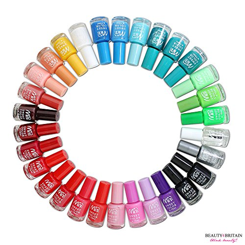 Lot de 120 vernis à ongles Couleurs assorties