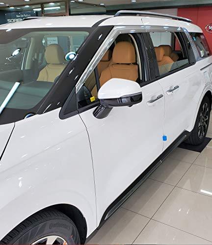 AUTOCLOVER Chrome Window Visors Side Wind Deflectors Rain Guards 4p for KIA All New 2022 Carnival MPV