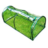 Lw Greenhouses Serre Tunnel,Sistemi Serra,Sistemi Serra,Serre in Plastica,Serra A Casetta da Terrazzo Balcone for Orto Piante Trasparente in PVC-130 × 60 × 50cm