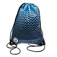マンチェスター・シティ フットボールクラブ Manchester City FC オフィシャル商品 ナップサック ジムバッグ (44 x 33cm) (ブルー/ブラック)