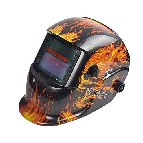 FLAME SKULL Pro Solar Auto Darkening Welding Helmet Arc Tig Mig Protect Grinding Welder Mask