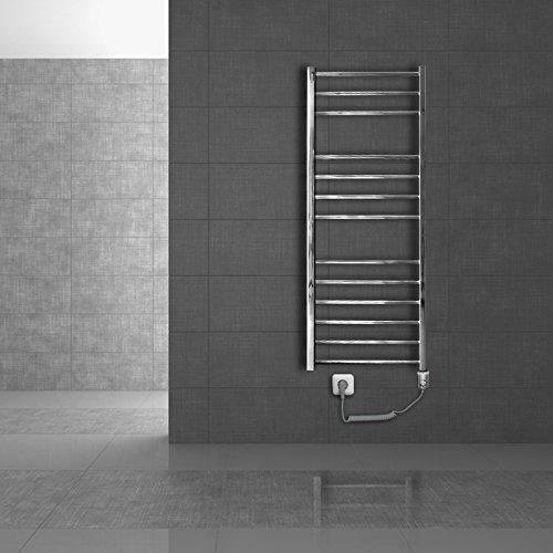 ECD Germany Radiador toallero de baño eléctrico - 400 x 1800mm -...