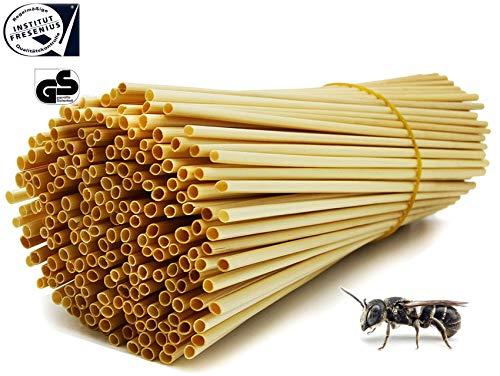 Healthtastic ® Nisthilfe Niströhren für Wildbienen - 200 STÜCK - als Bruthülsen Insektenhotel | Kompostierbare Einweg Strohhalme aus Stroh Umweltfreundliche Bio Trink Halme 100% biologisch abbaubar