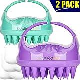Shampoo Brush, 2 Pack Hair Scalp Massager Shampoo Brush [ 2020 Upgraded Version...