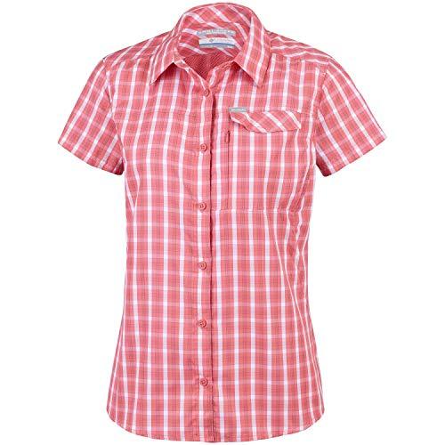 Columbia Damen Silver Ridge 2.0 Plaid Shorts Sleeve Hemd, Coral Bloom Gin, XL
