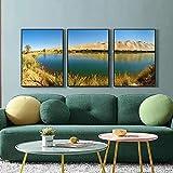 N / A Nordic Nature Landscape Poster Wüste Oasis Lake