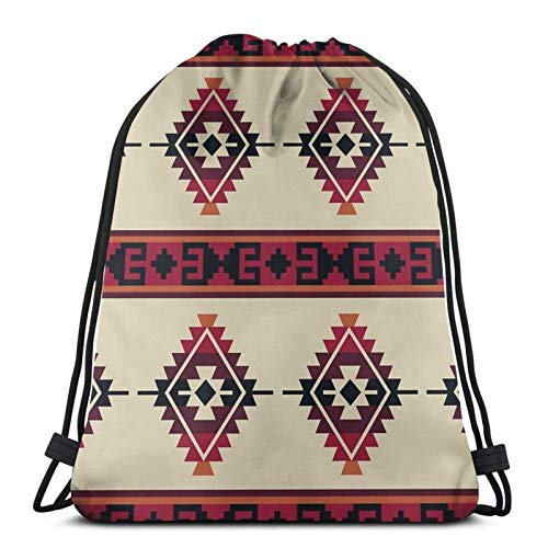 fenrris65 Drawstring Bag Daryl Dixon Poncho String Backpack Terylene for Men Women