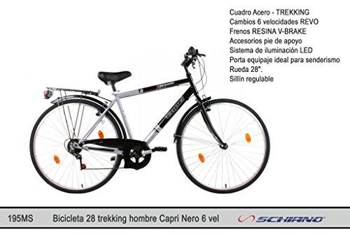 Schiano Cicli Fahrrad 28 Trekking. Mod. Capri schwarz