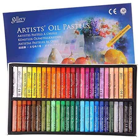 12/25/50 pcs Pastel à l'Huile Enfant Bâton de Peinture à l'Huile en Kit Crayon de Cire coloré Pastels de Tendres Professionnelle Craie de Pastel Graffiti Art Papeterie de Croquis pour Débutant Artiste