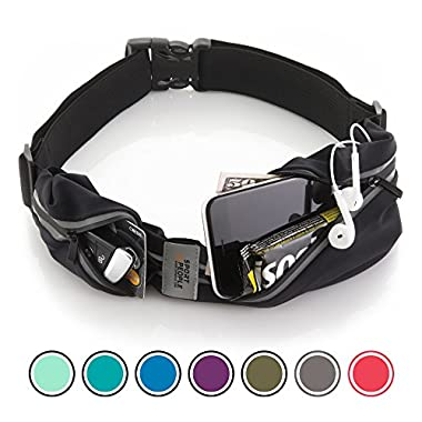 Sport2People Waist Bag for Running Waterproof Waist Pack Best Fitness Gear for Hands-Free Workout Freerunning Reflective Waist Pack Phone Holder Men, Women, Kids Running Accessories