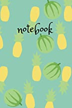 Notebook: Funny Melon Pineapple Design Summer Feeling, 110 lined pages, 6x9