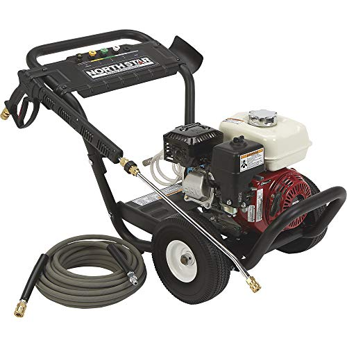 Northstar Gas Cold Water Portable Pressure Washer Power Washer - 3300 PSI, 2.5 GPM, Honda Engine, Model Number 157123