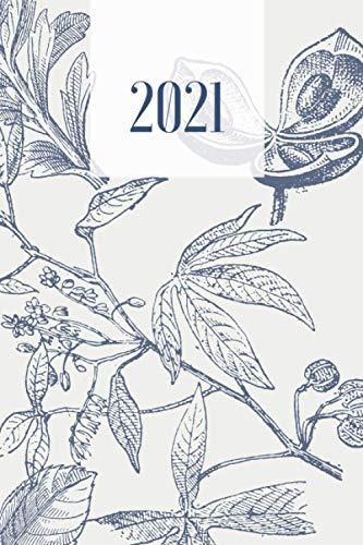 Agenda 2021 settimanale verticale: Bellissima Agenda settimanale e mensile, Organizer & Diario, Perfetta per organizzare la tua vita! Dimensione Facile da portare sempre con te 15x23cm Cover Vintage