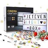 Jeteven Boîte Lumineuse avec 210 Lettres Coloris Cinéma Boîte...
