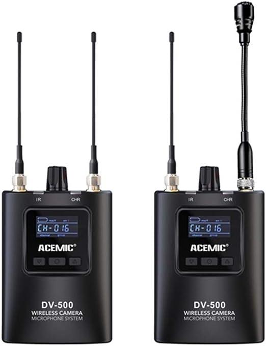 ACEMIC DV-500 Cámara Lavalier Micrófono inalámbrico DSLR ...