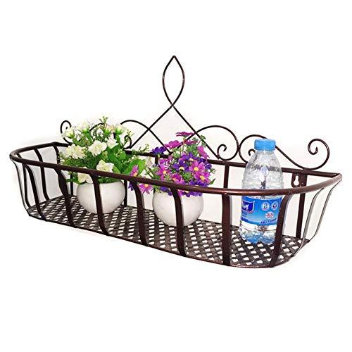 QFLY rek voor planten, binnen, bloemen, metaal, ijzer, eenvoudige deur, bloemen, muur, binnen, ophanging, opbergkast, 3 maten