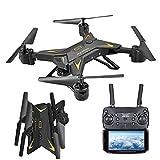 Dinglong Drone,Pliable WiFi FPV RC Quadcopter Drone avec 1080P 5.0 MP caméra Selfie Drone (Noir)