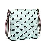 Miss Lulu - Bolso de lona para mujer, diseño de caballos y adolescentes Azul azul