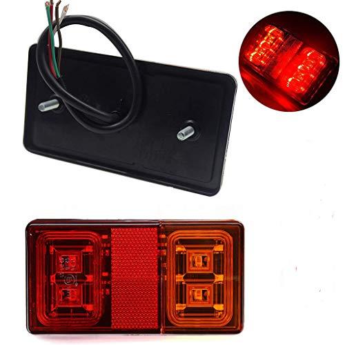 WildAuto Feux Remorque Led 12V 24 V, LED Feux Arrière, Feux Stop, Feux Clignotant pour Remorque, Camion, Caravane, Vélo (2pcs)