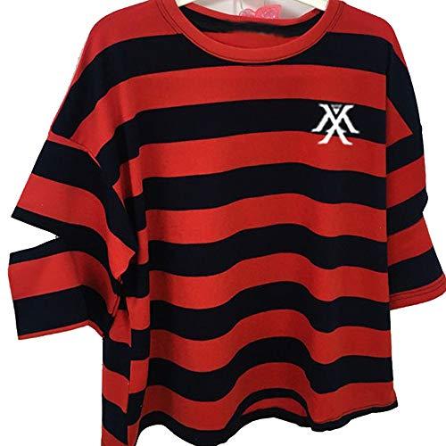 Monsta X KPOP T Shirt Monsta X Camiseta Moda Coreana Manga Corta HYUNGWON Jooheon WONHO IM Shownu NINHYUK KIHYUN T Shirt Hombre y Mujer Verano Corta Blusa
