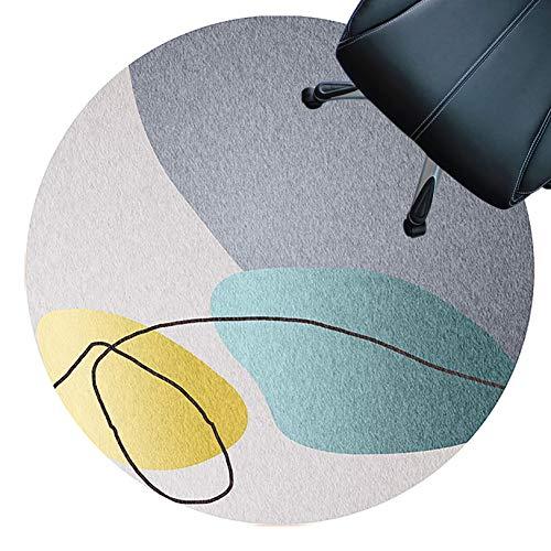 XJRS Teppich für bürostuhl stuhlmatte Für Hartholzböden, Kurzflorige Teppiche, Antirutsch, rutschfeste Unterlage, Easy to Clean, Bodenschutzmatte(Size:160cm,Color:EIN)