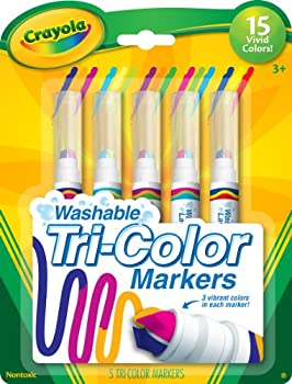 Crayola Triple Tip Markers Washable Markers 15 Vivid Colors 5 Count