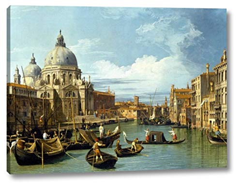 "The Entrance to The Grand Canal Venice by Canaletto - 15"" x 20"" Canvas Art Print Gallery Wrapped - Ready to Hang"