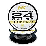 Resistance Wire Kanthal A1-24 Gauge Spools 30 Feet (KANTHAL A1 24)