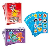 Hallmark Kids Pokémon Valentines Day Cards and Stickers Assortment (12 Cards with Envelopes)